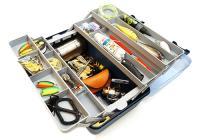 Ящик Nautilus 136 Tackle Box 4-tray Clear Blue-Blue