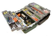 Ящик Nautilus 138 Tackle Box 6-tray Green-Grey